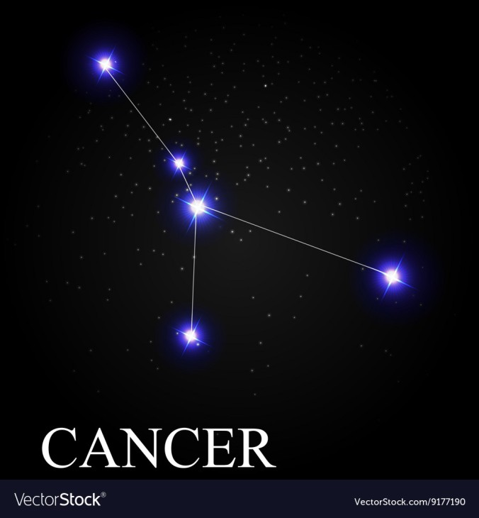 cancer-zodiac-sign-with-beautiful-bright-stars-on-vector-9177190
